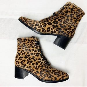 NEW Freda Salvador ace lace up cheetah bootie 6